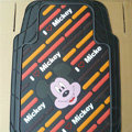 Brand Mickey Mouse Cartoon Unique Universal Auto Carpet Car Floor Mats Rubber 5pcs Sets - Brown