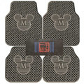 Cute Mickey Mouse Cartoon Unique Universal Auto Carpet Car Floor Mats Rubber 5pcs Sets - Gray