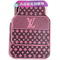 Luxury LV Louis Vuitton Unique Universal Automotive Carpet Car Floor Mats Rubber 5pcs Sets - Purple
