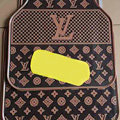 Luxury LV Louis Vuitton Unique Universal Automotive Carpet Car Floor Mats Rubber 5pcs Sets - Yellow