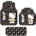 Point Hello Kitty Cartoon Fruits Universal Auto Carpet Car Floor Mats Rubber 5pcs Sets - Red