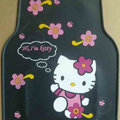 Princess Hello Kitty Cartoon Flower Universal Automobile Carpet Car Floor Mats Rubber 5pcs Sets - Black