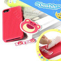 3D Bear Cover Disney DIY Silicone Cases Skin for iPhone 6 - Pink