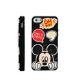 3D Mickey Mouse Cover Disney DIY Silicone Cases Skin for iPhone 6 - Black