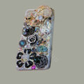 Bling Swarovski crystal cases Skull diamond cover for iPhone 6 - Black