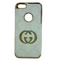 GUCCI Luxury leather Cases Hard Back Covers for iPhone 6 - White