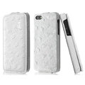 IMAK Ostrich Series leather Case holster Cover for iPhone 6 - White