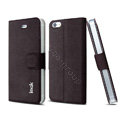 IMAK Squirrel lines leather Case support Holster Cover for iPhone 6 - Coffee