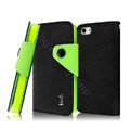 IMAK cross leather case Button holster holder cover for iPhone 6 - Black
