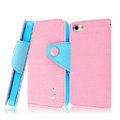 IMAK cross leather case Button holster holder cover for iPhone 6 - Pink