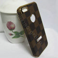LOUIS VUITTON LV leather Cases Luxury Hard Back Covers Skin for iPhone 6 - Brown