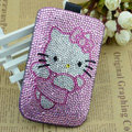 Luxury Bling Holster Covers Hello kitty diamond Crystal Cases for iPhone 6 - Pink EB002