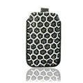 Luxury Bling Holster Covers Leopard diamond Crystal Cases for iPhone 6 - Black