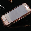 Swarovski Bling Metal Leather Case Cover Protective shell for iPhone 6 - Gold