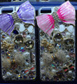 Swarovski crystal cases Bling Bowknot diamond cover for iPhone 6 - Pink