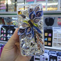 Swarovski crystal cases Bling Flower diamond covers for iPhone 6 - Purple