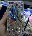 Swarovski crystal cases Bling Flowers diamond cover for iPhone 6 - Blue