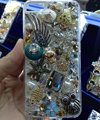 Swarovski crystal cases Bling Owl fish diamond cover for iPhone 6 - White