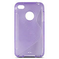 s-mak translucent double color cases covers for iPhone 6 - Purple