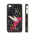 Bling Swarovski crystal cases Angel diamond covers for iPhone 6 Plus - Black