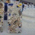 Bling Swarovski crystal cases Angel star diamond covers for iPhone 6 Plus - White