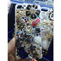 Bling Swarovski crystal cases Ballet girl Skull diamond cover for iPhone 6 Plus - Black