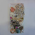 Bling Swarovski crystal cases Ballet girl diamond cover for iPhone 6 Plus - White