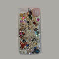Bling Swarovski crystal cases Cat diamond cover for iPhone 6 Plus - Pink