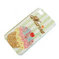 Bling Swarovski crystal cases Ice cream diamond covers for iPhone 6 Plus - Brown