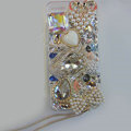Bling Swarovski crystal cases Swan diamond cover for iPhone 6 Plus - White