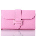 Classic Hermes High Quality Leather Flip Cases Holster Covers For iPhone 6 Plus - Pink
