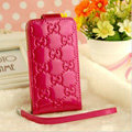 GUCCI leather Cases Luxury Holster Covers Skin for iPhone 6 Plus - Rose