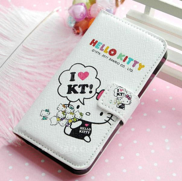 Buy Wholesale Hello Kitty Side Flip leather Case Holster Cover Skin ...