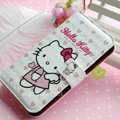 Hello Kitty Side Flip leather Case Holster Cover Skin for iPhone 6 Plus - White 05