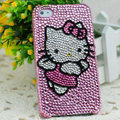 Hello kitty diamond Crystal Cases Luxury Bling Hard Covers Skin for iPhone 6 Plus - Pink