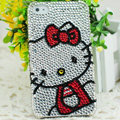 Hello kitty diamond Crystal Cases Luxury Bling Hard Covers Skin for iPhone 6 Plus - White