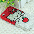 Hello kitty diamond Crystal Cases Luxury Bling Hard Covers for iPhone 6 Plus - Red