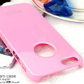 Imak ice cream hard cases covers for iPhone 6 Plus - Pink (High transparent screen protector)