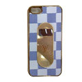 LV LOUIS VUITTON Luxury leather Cases Back Hard Covers for iPhone 6 Plus - White