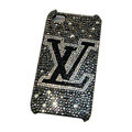 LV Louis Vuitton diamond Crystal Cases Bling Hard Covers for iPhone 6 Plus - Black
