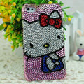 Luxury Bling Hard Covers Hello kitty diamond Crystal Cases Skin for iPhone 6 Plus - Pink