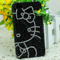 Luxury Bling Hard Covers Hello kitty diamond Crystal Cases for iPhone 6 Plus - Black