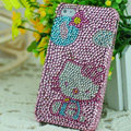 Luxury Bling Hard Covers Hello kitty diamond Crystal Cases for iPhone 6 Plus - Pink