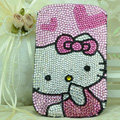 Luxury Bling Holster Covers Hello kitty diamond Crystal Cases for iPhone 6 Plus - Pink EB004