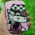 Luxury Bling Holster Covers Hello kitty diamond Crystal Cases for iPhone 6 Plus - Pink