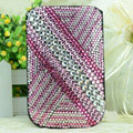 Luxury Bling Holster Covers diamond Crystal Leather Cases for iPhone 6 Plus - Pink