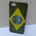 Retro Brazil flag Hard Back Cases Covers Skin for iPhone 6 Plus