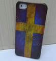Retro Sweden flag Hard Back Cases Covers Skin for iPhone 6 Plus
