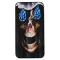 Skull Hard Back Cases Covers Skin for iPhone 6 Plus - Black EB004