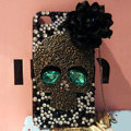 Skull diamond Crystal Cases Bling Hard Covers Skin for iPhone 6 Plus - Black